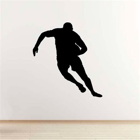 Rugby Wall Stickers rugby wall sticker running player outline sports wall