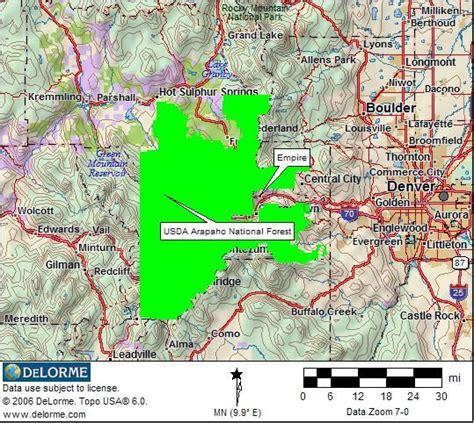 colorado national forest maps usda arapaho national forest map travel colorado