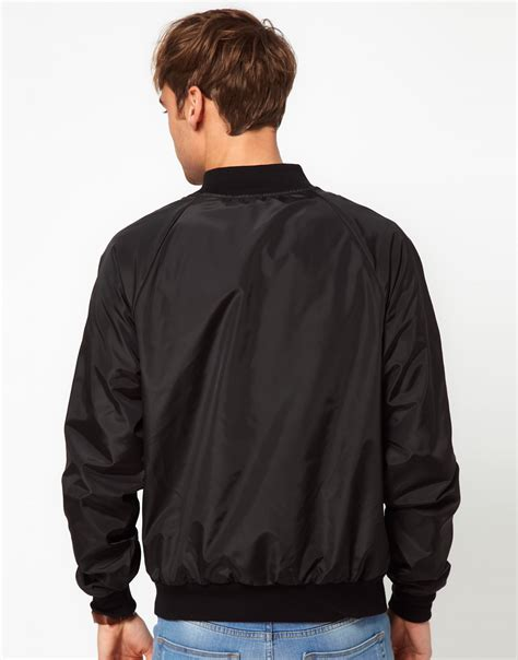 Jacket Bomberkeren 11 lyst american apparel bomber jacket in black for