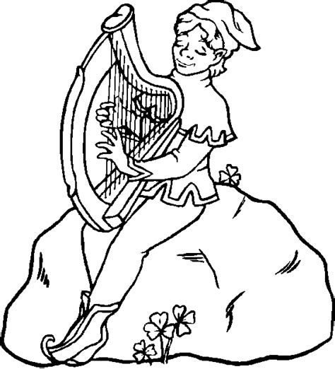 ireland coloring pages harp coloring pages