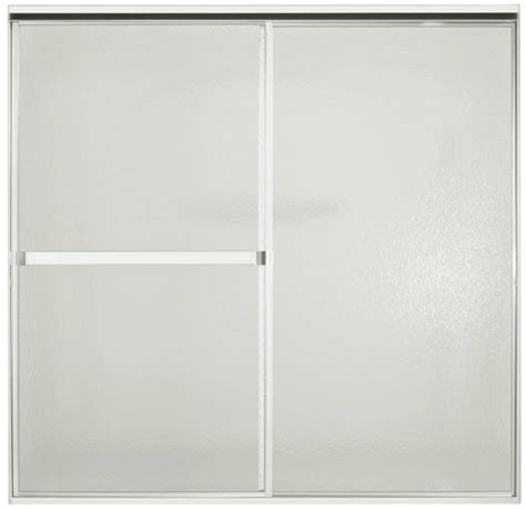 Sterling 5900 Shower Door Sterling 690b Bypass Bath Door 59 In W X 70 In H Bright Silver