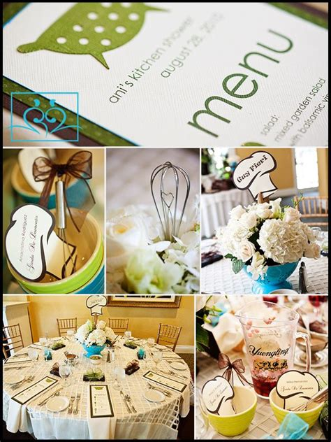 kitchen themed bridal shower ideas centerpieces a colorful colander filled with flowers and