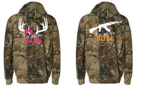 Matching Camo Shirts For Couples Couples Fluorescent Orange And Pink Real Tree Camo Zip Up