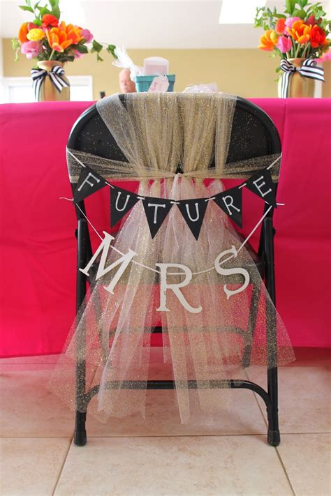 decorating ideas for bridal shower chair happy cer crafting my best friend s bridal shower