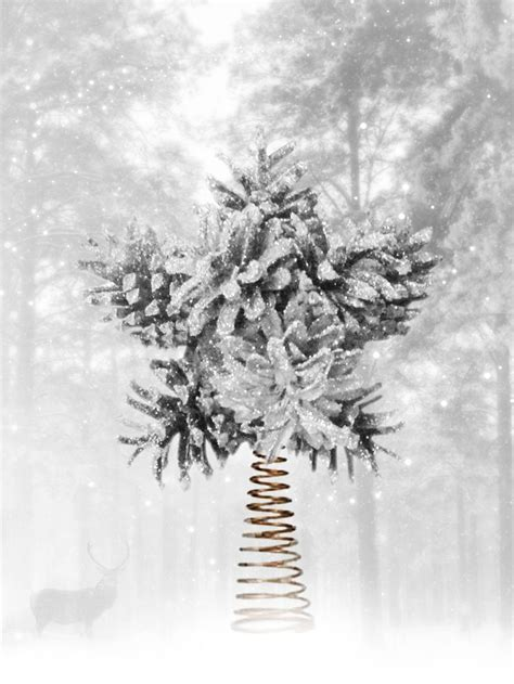magical tree topper pine cone tree topper christmas