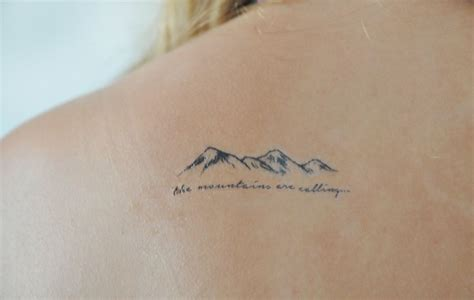 small nature tattoos mountains temporary small temporary by