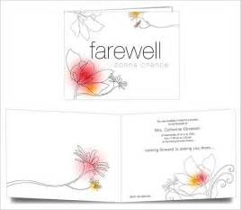 Farewell Invitation Template Free by Farewell Card Template 25 Free Printable Word Pdf Psd