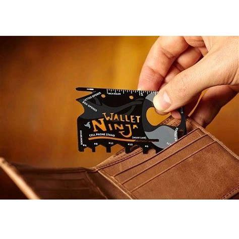 Wallet 18in1 Multi Purpose Credit Card Sized Pocket Tool Wallet 18in1 Multi Purpose Credit Card Sized Pocket Tool Black Jakartanotebook