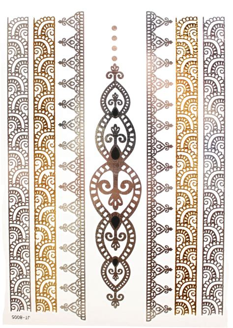 metallic temporary tattoos metallic temporary tattoos single sheet mishqua