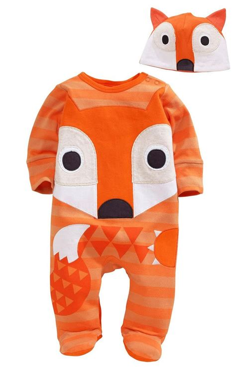 Owl Sleepsuit Jumper Baby animal fox owl baby boys newborn romper playsuit set 0 24m baby