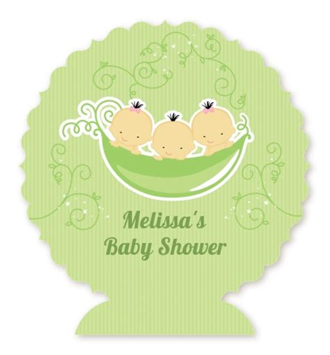 Three Peas In A Pod Baby Shower by Triplets Three Peas In A Pod Asian Baby Shower Table