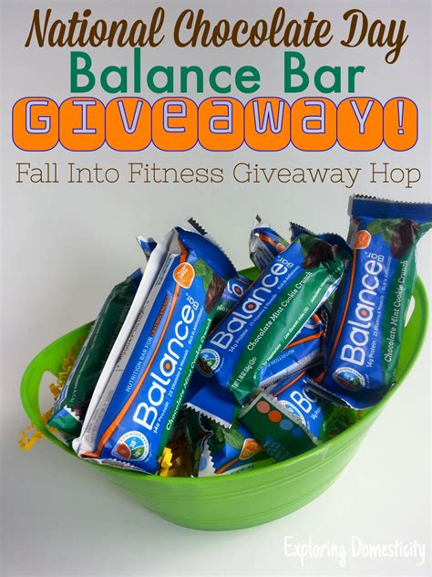 Giveaway Chocolate - balance bar giveaway for chocolate lovers fall into fitness giveaway hop