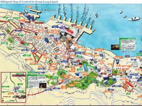 tourist map of central hong kong central map detailed hong kong central