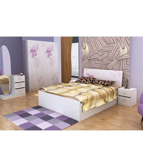 white queen size bedroom sets bedroom set with queen size in white buy online at best