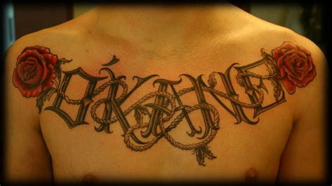 tattoo rope letters rope lettering tattoo design for men on chest http