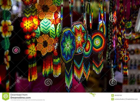 Mexican Handcrafts And Folk - huichol stock photo image 46400169
