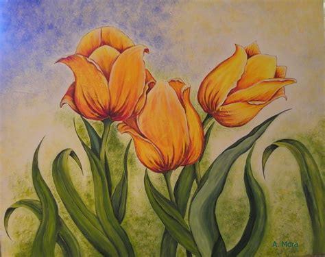 pintar cuadros con pintura acrilica ideas creativas alyss tulipanes pintura acr 237 lica