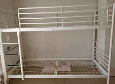 Tromso Bed Frame Bunk Bed Frame Tromsosvarta From Ikea White For Sale In Sandyford Dublin From Kezo777