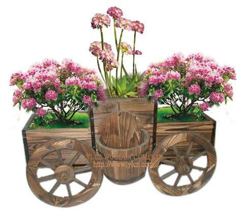 Wooden Garden Decor China Garden Product Flower Pot Flower Car Gh9084 China Outdoor Furniture Garden Decoration