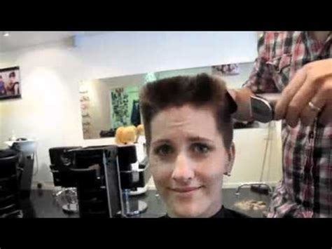 women with flattop hair shaving amy the flat top youtube