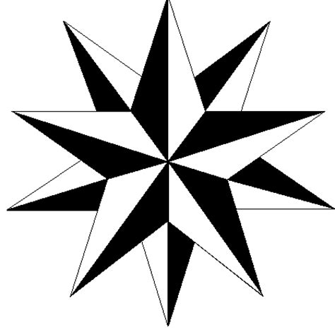 6 point star tattoo five point designs clipart best