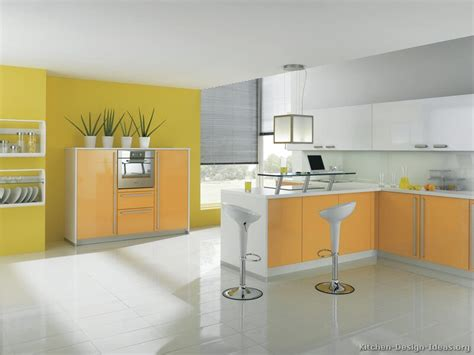 orange and white kitchen ideas pictures of modern yellow kitchens gallery design ideas