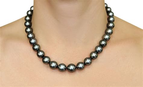 11 12mm tahitian south sea pearl necklace