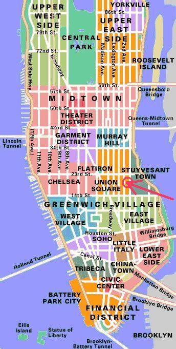 map of new york city neighbourhoods finding your way around manhattan part 2 different