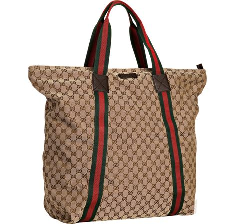 Gucci Travel Tote by Gucci Beige Gg Canvas Web Stripe Large Travel Tote In