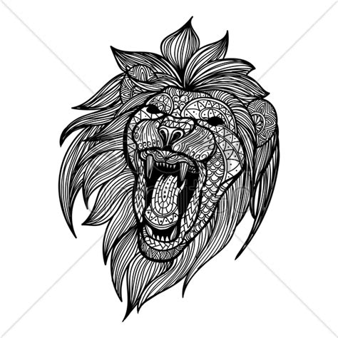lion pattern tumblr intricate lion design vector image 1619596 stockunlimited