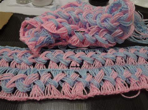 como tejer bufandas con agujas como tejer una bufanda de dos colores con marimur 573
