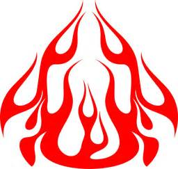 Hood 11 hood flame graphic decal stickers customized online