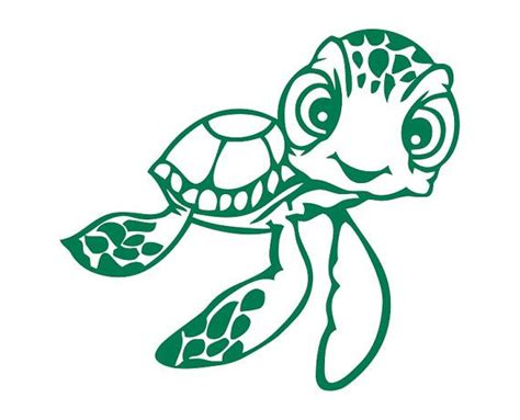 nemo sea turtle coloring page squirt the sea turtle from finding nemo die cut by