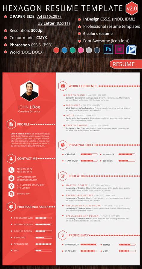 Sample Of One Page Resume by 15 Creative Infographic Resume Templates