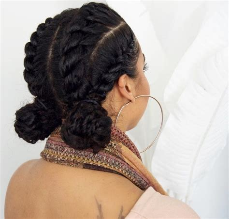 Twist Bun Hairstyles by Flat Twist With Bun Hairstyles Hairstyles