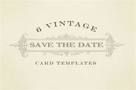 vintage save the date card templates vintage save the date graphics card templates on