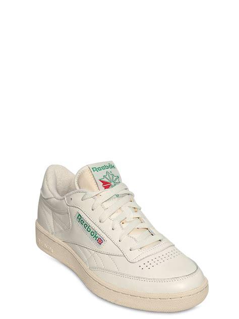reebok s sneakers lyst reebok club c 85 vintage leather low top sneakers