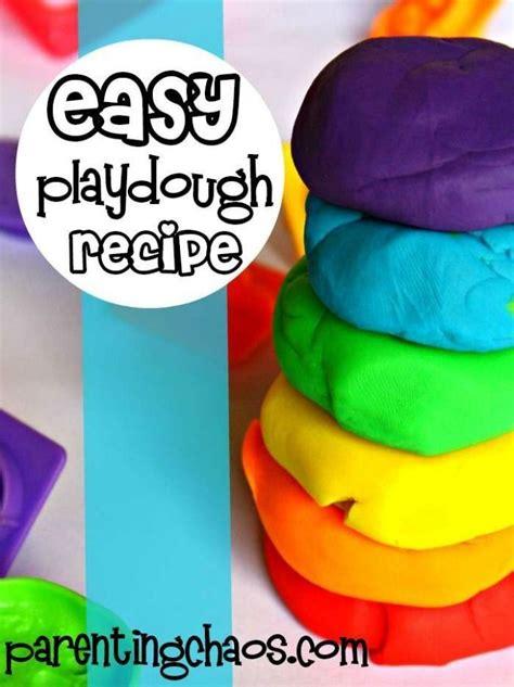 easy playdough recipe for home and plays