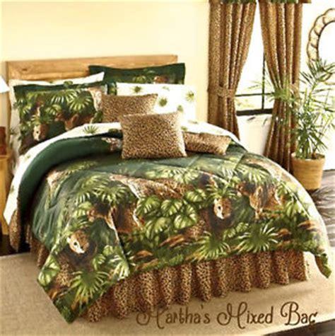 Safari Brown Leopard Cheetah Cats Animal Print Green Palm Size Leopard Print Bedding