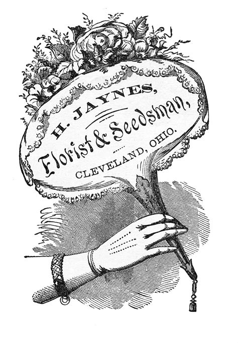 vintage clip art old florist advertising sign the