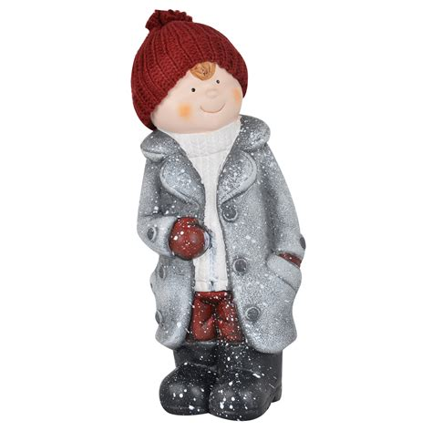 ceramic christmas collectible boy girl figurines indoor