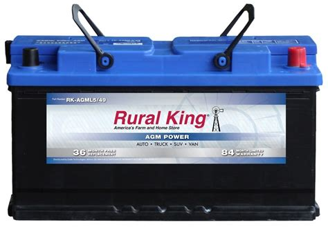 Rural King Automotive AGM Group L 5/49 Battery RK AGML5/49