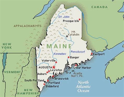 map of maine usa and new brunswick canada bob s 2013 set 01 of maine favorites