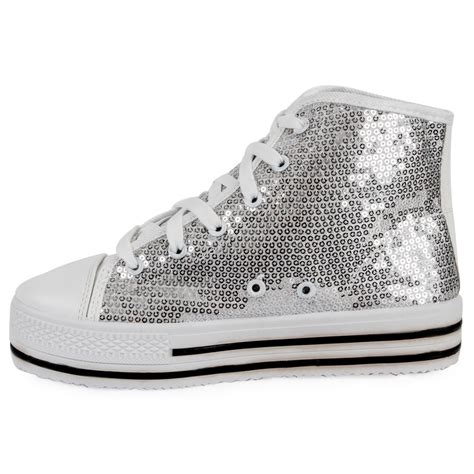 silver sequin flat shoes womens silver sequin hi top pumps flat platform