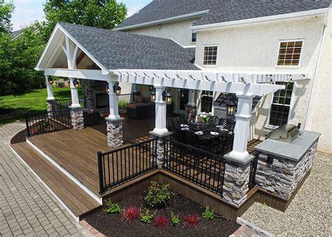 custom timbertech deckporchpergola  sq ft