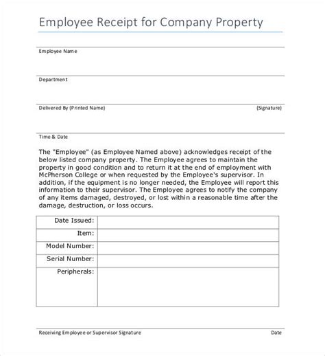 property receipt form template receipt template 122 free printable word excel ai
