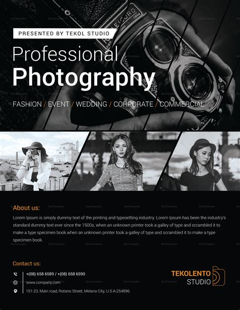 Photography Flyer Template by Model Photography Flyer Design Template In Word Psd