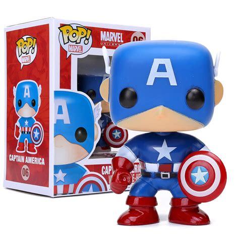 Original Funko Pop Marvel Captain America With Photon Shield 159 funko pop marvel comics captain america bobble vinyl