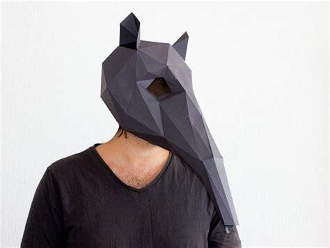 anteater mask template printable anteater mask diy printable animal head instant pdf