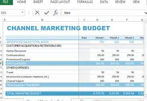 sales and marketing budget template channel marketing budget template for excel